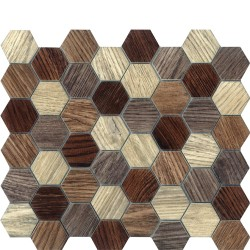 DIGITAL GLASS BEIGE HEXAGON