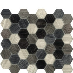 DIGITAL GLASS DK.GREY HEXAGON