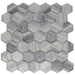 "EXOCTICA GLASS HEX 2"" WHITE"