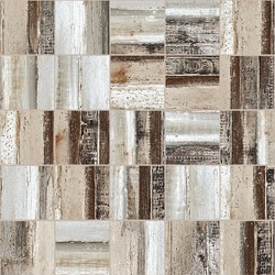 CONCRETE WOOD 2X2 MOSAIC